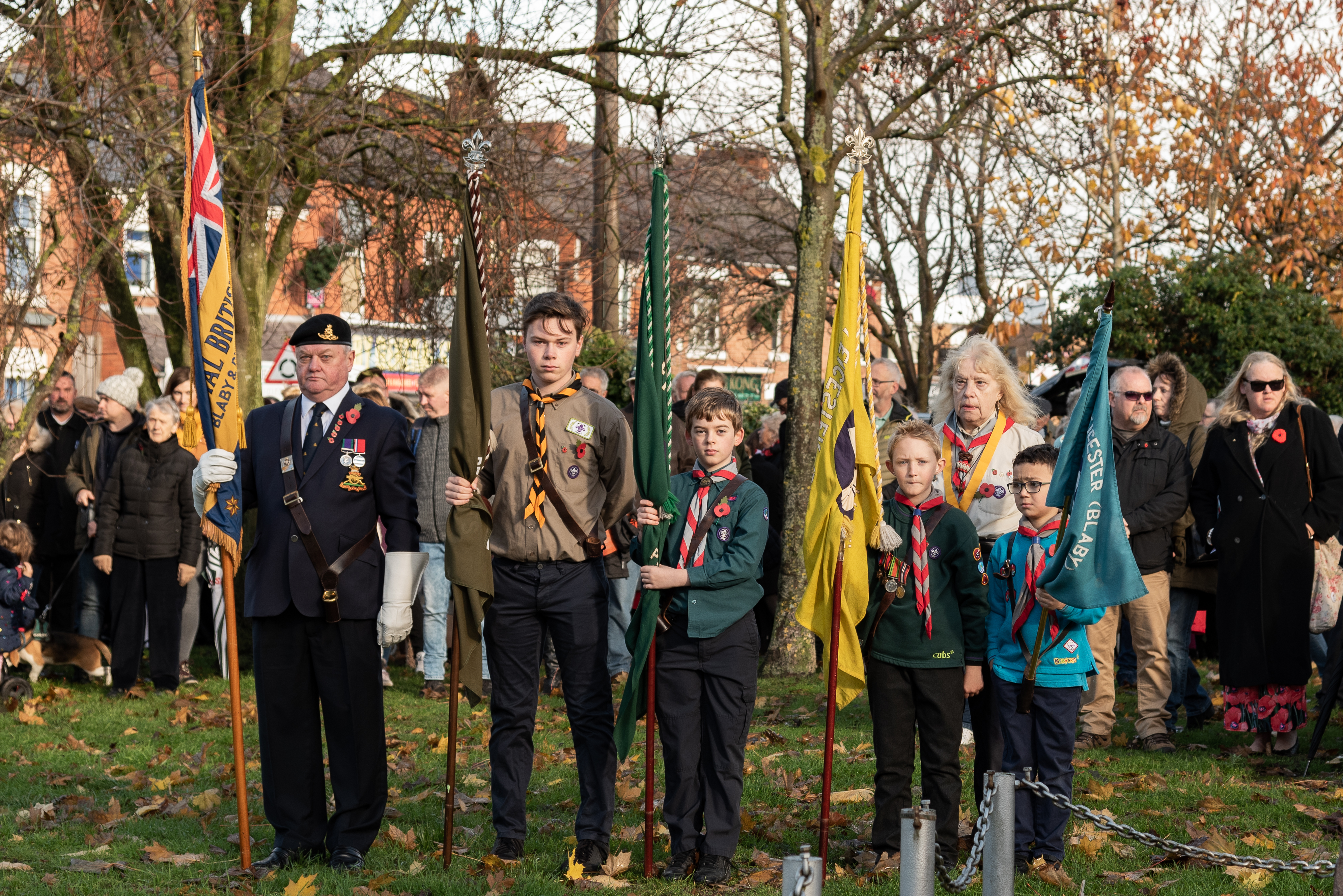 Remembrance Sunday 2018 26th Leicester Blaby Scout Group